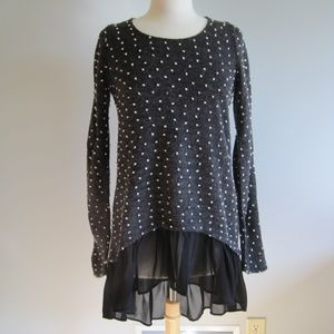 ANTHROPOLOGIE  a'reve  Low Back Top Size L
